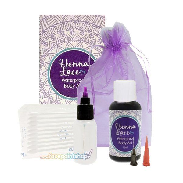 Henna Lace Waterproof Body Art Kit Face Paint Shop