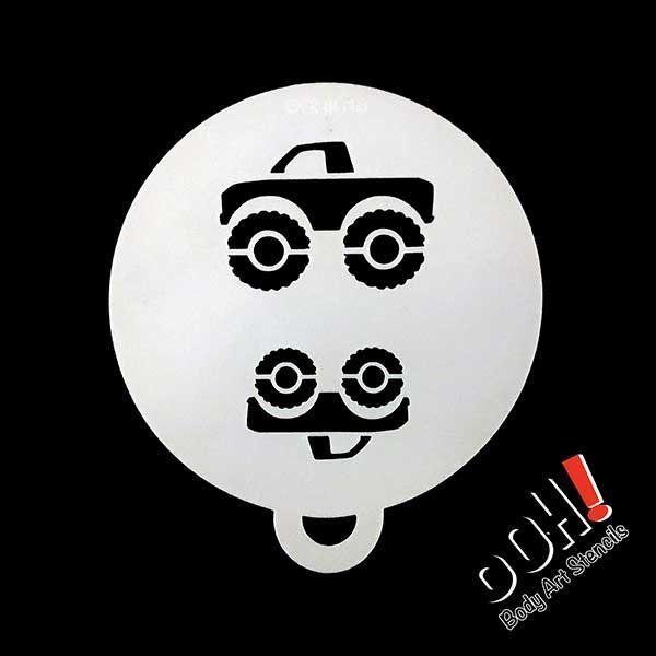 Ooh Body Art Stencils C10 Face Paint Shop