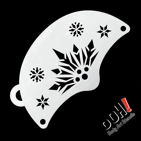 Ooh Body Art Snowflake Queen Mask Face Paint Stencil K011 Face Paint Shop