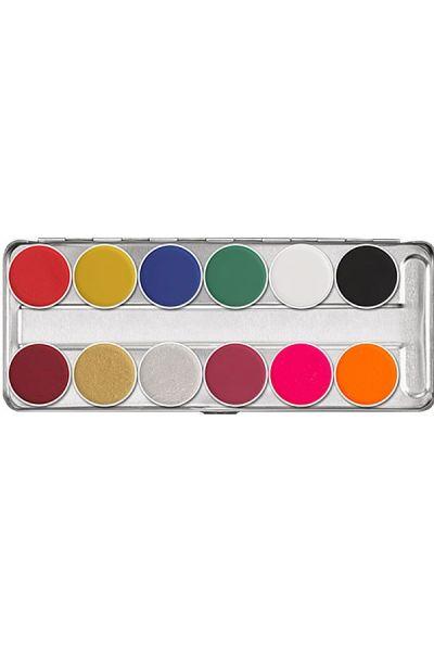 Kryolan Aquacolor FX Palette 12 colors