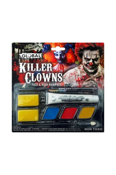 Global Killer Clowns Face & Body Paint Set