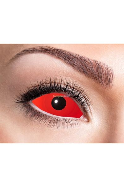 Sclera Party Fun Lenses Red Eye 22mm