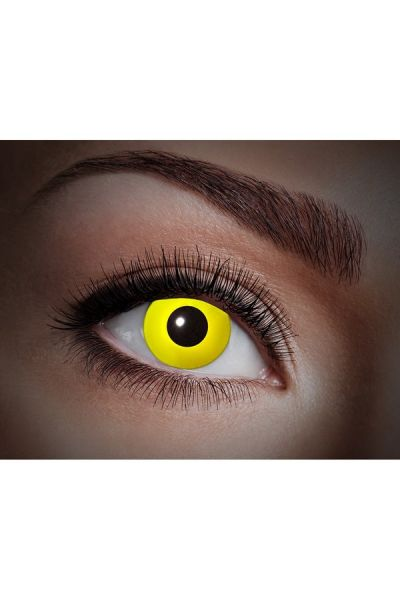 Glowing Uv Flash Yellow Fun Lenses