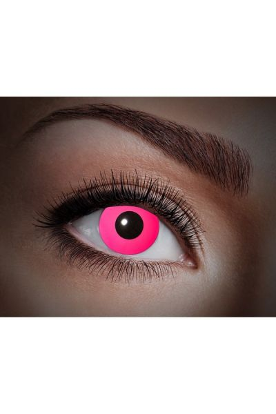 Glowing Uv Flash Pink Fun Lenses