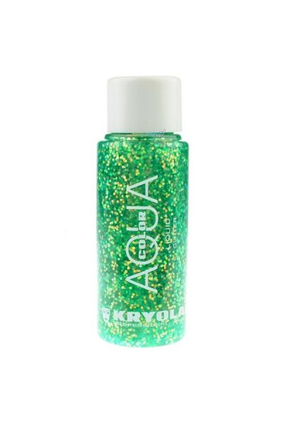 Kryolan Liquid Aquacolor Glitter Pastel Green