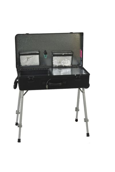 "Black Craft-n-Go Paint 28"" Station with Accessories"