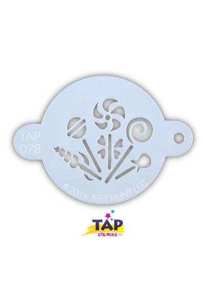 Tap Facepaint Stencil Candy Party