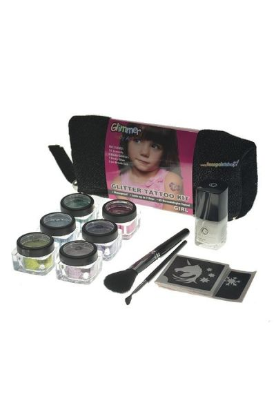 Glimmer Glitter Tattoo Kit Girl