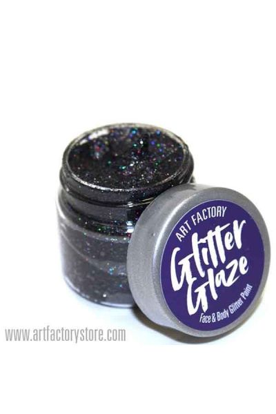 Black Glitter Glaze Face & Body Paint