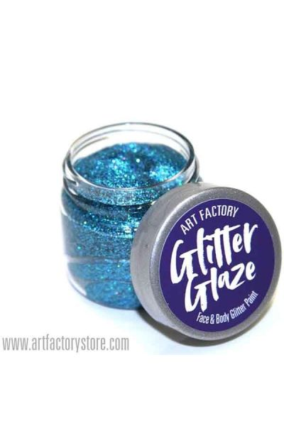 Blue Glitter Glaze Face & Body Paint