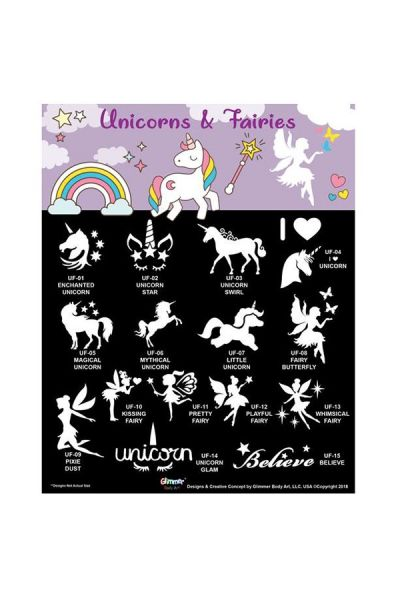 Glimmer Unicorns & Fairies Set met poster