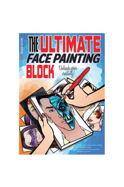 """The ultimate face painting practice block. Adult Edition"