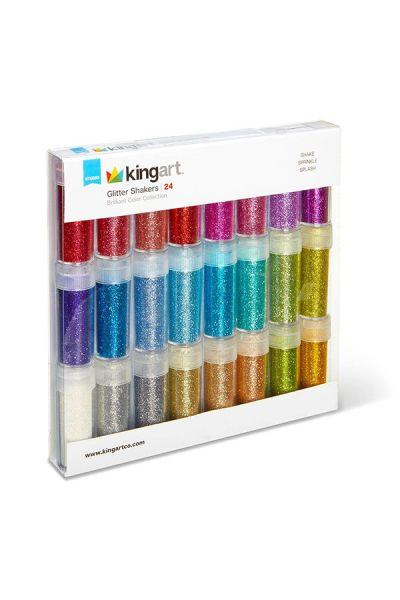 Kingart Glitter Shaker Jars 24 Shades