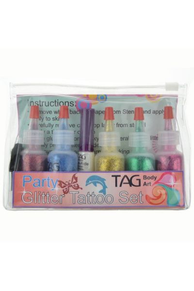 Tag Glitter Party Tattoo Set