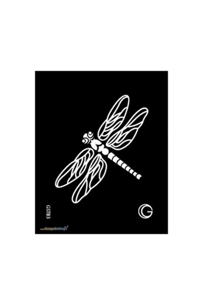 Dragonfly Zwarte Tattoo Sjabloon