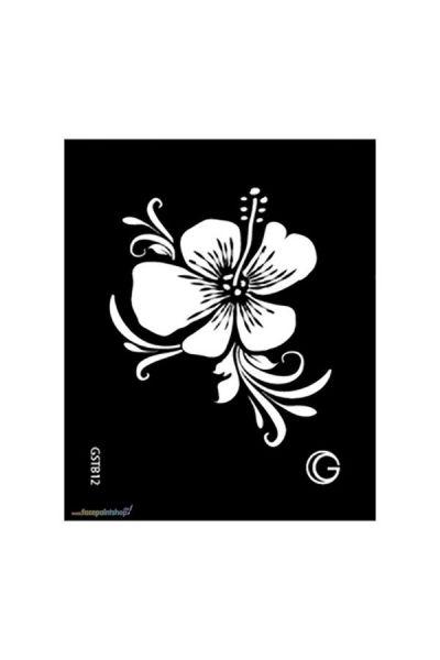 Hibiscus Zwarte Tattoo Sjabloon