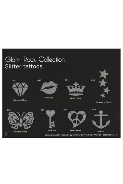 Glimmer Glam Rock Stencil Set