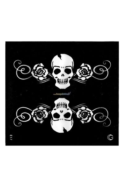 Glimmer HD Tattoo Medium (Skulls & Roses)