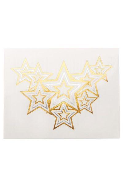 Star Necklace Glimmer Metallic Jewelry Tattoos