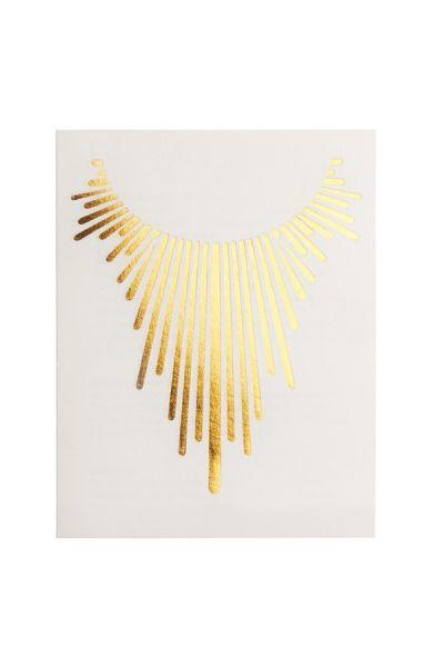 Gold Sparks Glimmer Metallic Jewelry Tattoos