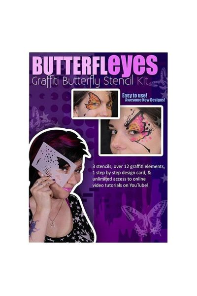 Lea Selley Graffiti Butterfly Stencil Kit