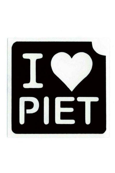 Glittertattoo Sjabloon I love Piet