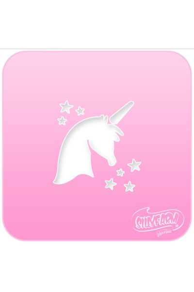 Schminksjabloon Sillyfarm Unicorn