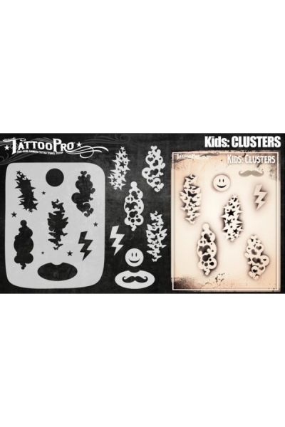 Wiser Airbrush Tattoo Clusters