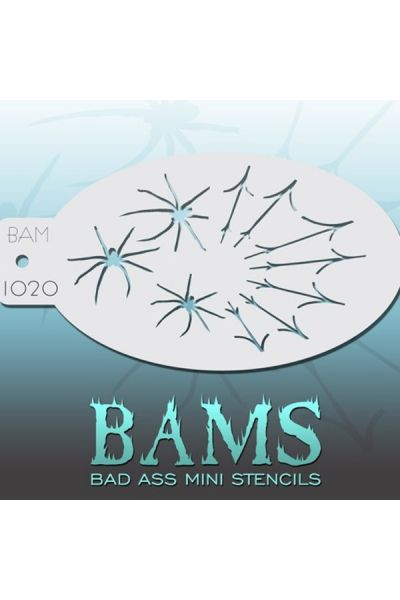 Bad Ass Bams FacePaint Stencil 1020