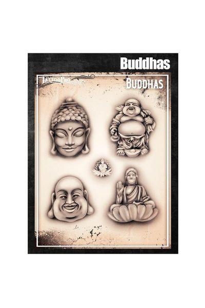 Wiser Airbrush Tattoo Buddhas