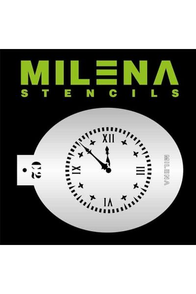 Milena Stencil Klok A2