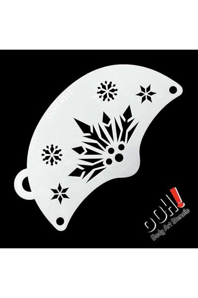 oOh Body Art Snowflake Queen Mask Face Paint Stencil K011