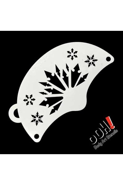 oOh Body Art Snowflake Princess Mask Face Paint Stencil K012