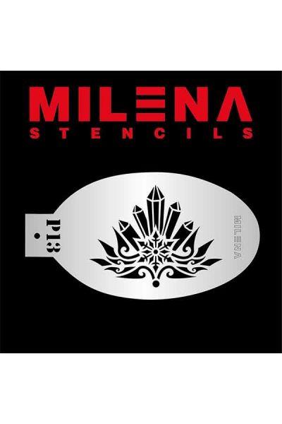 Milena Stencil Snowflake Crystals P13
