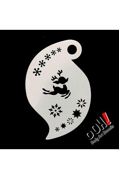 oOh Body Art Baby Reindeer Storm Stencil R07