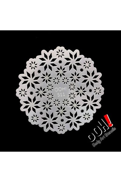 oOh Body Art Snowflakes Sphere Princess Stencil S11