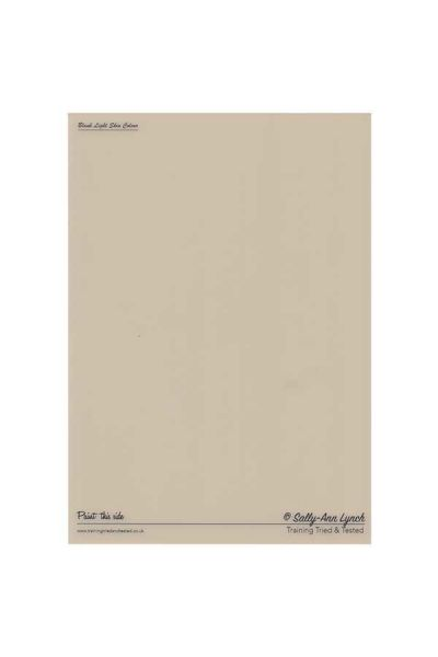 Practice and Display Original Blank Light Skin Color Board A3