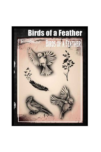 Wiser Airbrush Tattoo Birds of a Feather