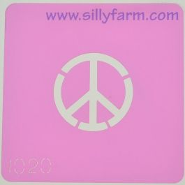 Peace Sign Airbrush Stencil,Template