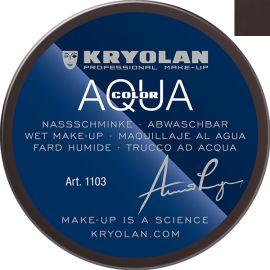 Kryolan Aquacolor Zwarte Pieten Schmink 102 55ml