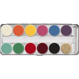 Kryolan Rubber Mask Grease Palette 12 Colors (FP Palette)