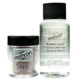 Mehron Metallic Powder Brons With Mixing Liquid