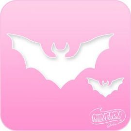 Silly Farm Stencil Bat  Sillyfarm stencils were created by Silly Farm and are versatile enough to be used with Face Painting and as Airbrush stencils.