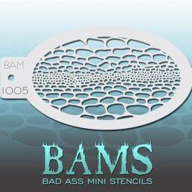 Bad Ass Bams FacePaint Stencil 1005
