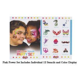 Sillyfarm Girls Pink Power Stencil Set