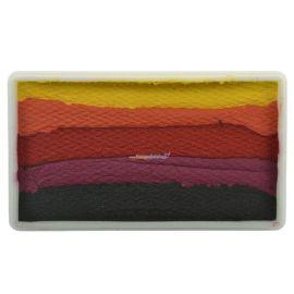 Diamond Fx Splitcake Halloween  Rainbow colors van Diamond Fx voor een snel resultaat. Met de Rainbow cakes boek je snel resultaat. Ideaal voor schminken op een festival of een kinderfeestje.