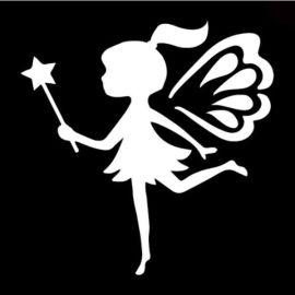 Glittertattoo Sjabloon Kissing Fairy  (5 pack)