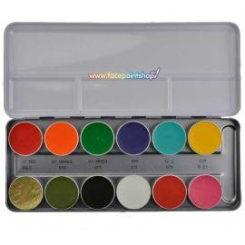 Kryolan Aquacolor K Basispalet 24 kleuren