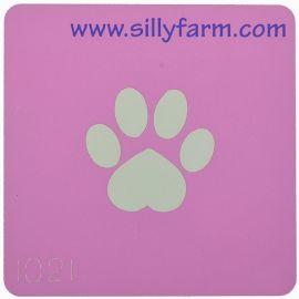 Facepaint Stencil Sillyfarm Dog Paw