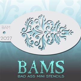 Bad Ass Facepaint stencil 2027